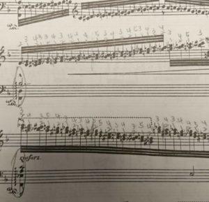 書き込みだらけの楽譜2