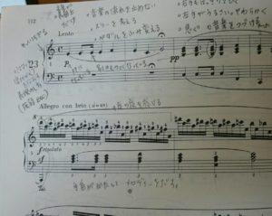 書き込み楽譜