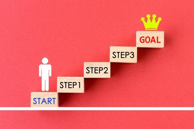 目標は3つに分けると達成しやすい